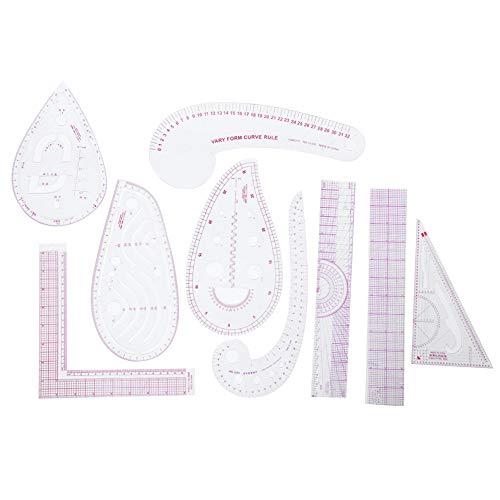 Regla de costura de Homeriy para coser en forma de curva francesa métrica regla de costura para coser dibujo plantilla curva en forma de regla accesorios para diseñadores y sastres.
