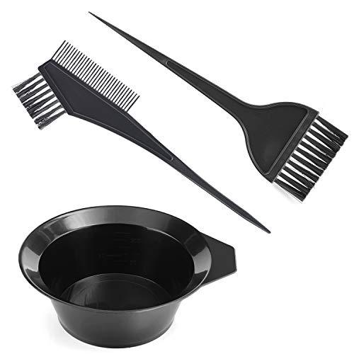 Gezimetie Haarfärbe-Set, doppelseitiger Pinsel, Kamm und Schüssel, 3-teiliges Set