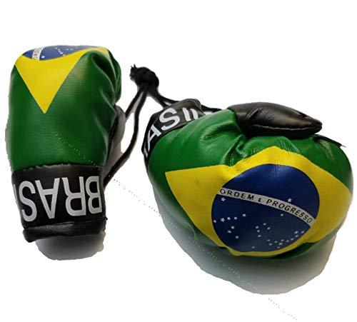 BUNFIREs Brasil Flag Mini Banner Boxhandschuhe zum Aufhängen über Rückspiegel Brasilianische Länderflagge