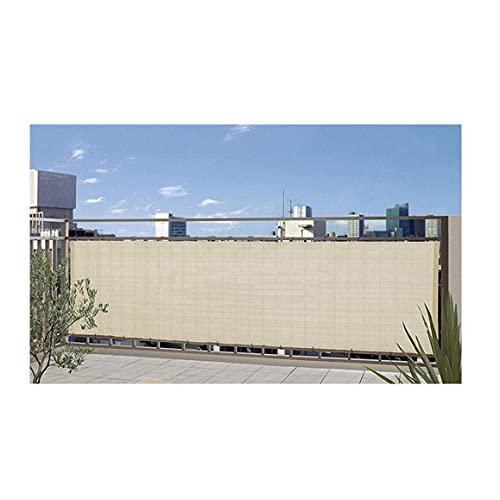 MALSWDJX Gafas de sol de tela, protección solar para balcón, protección solar para jardín, UV, polietileno, tamaño 51 (color: beige, tamaño: 200 x 400 cm)