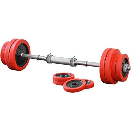 FIELDOOR ブラックダンベル ラバーリング付 20kg×2個セット シャフト連結ジョイント付(シャフト径28mm) 【筋力トレーニング/ダイエット/シェイプアップ】