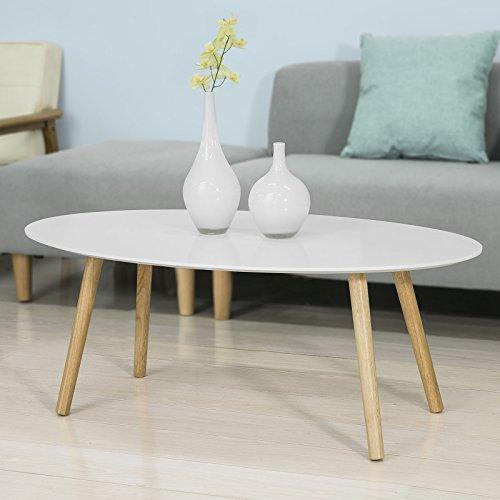 SoBuy Mesa de Centro para Salón,Mesa de Café, Blanco, L105xH40 cm,FBT61-W, ES 🔥