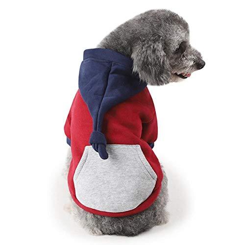 Hunde Haustier Katze Hund Pullover,Kleine Welpen Haustier Hund Katze Kleidung Hoodie Winter warme Pullover Mantel Kostüm Bekleidung