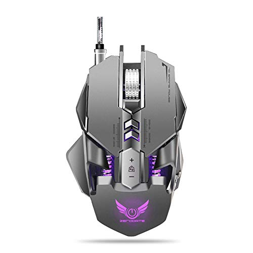 Gaming Mouse Wired, 7 Programmable Buttons, 7 RGB backlights, 4000 DPI Adjustable,A3050 chip,Comfortable Grip Ergonomic Optical PC Computer Gaming Mice with Fire Button