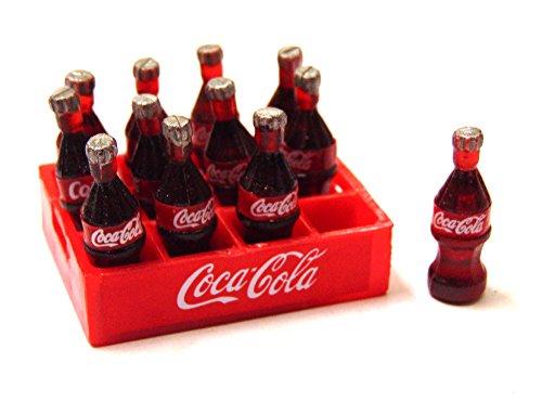Tumdee Miniatures Puppenhaus Cola Kiste aus Kunststoff mit 12 Flaschen