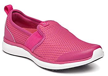 Vionic Women s Simmons Julianna Slip- On Service Shoes- Slip Resistant Sneakers That Include Three-Zone Comfort with Orthotic Insole Arch Support Sneakers for Women Pink 7.5 Medium US