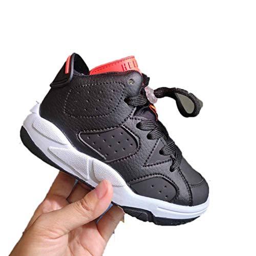 Baskets haut de gamme pour enfants printemps et automne confortable serréble cuir respirant sans glissement baskets absorption choc plus âgés garçons et filles chaussures d'étudiant occasionnels