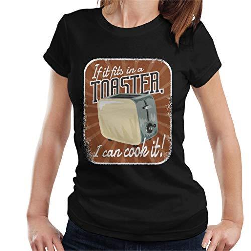 Cloud City 7 als het past in een broodrooster ik kan koken het vrouwen T-Shirt