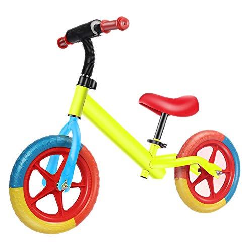 QHY 12' Deporte Bicicleta De Equilibrio 2-6 Años Viejo Niños Uso- Ultra Fresco Colores Empujar Bicicletas por Niños Pequeños No Pedal Scooter Bicicleta con Reposapiés