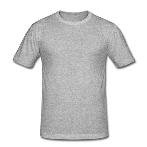 Kettlebell Skull Wings Kugelhantel Totenkopf Männer Slim Fit T-Shirt, L, Grau meliert