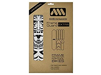 All Mountain Style AMSFG2BLWH Honeycomb High Impact Frame Guard Extra - Protects your bike from scratches and dings Clear/Maori