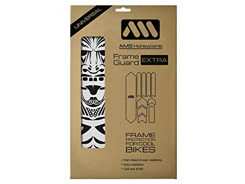 All Mountain Style Rahmenschutz Extra gegen starke Schläge – Schützt Ihr Fahrrad vor Kratzern und Beulen, Klar/Maori