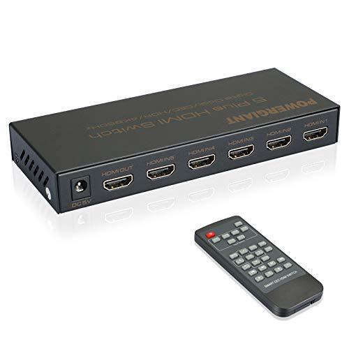 Switch HDMI 4K @ 60Hz 5 in 1 Out Splitter HDMI Switch con Telecomando IR Switcher HDMI ad Alta Definizione Supporto per 1080P 2160P HDR, CEC, lettore Blu-Ray, Xbox, DTS, Dolby Vision