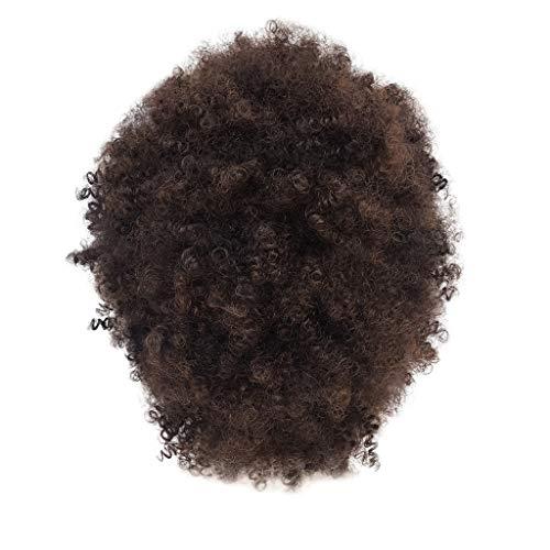 12shage Perruques Synthétiques Brunes Synthétiques Pour Les Femmes Afro Courtes Perruque Naturelle