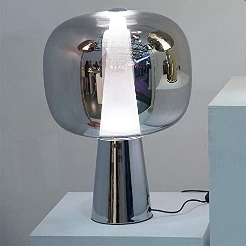Lámparas de mesa de noche Lavish Home Lámpara de vidrio Lámpara de mesa con bombilla LED e iluminación decorativa moderna Dormitorio Lámpara de mesa de estudio de arte de cabecera Escritorio Lámp