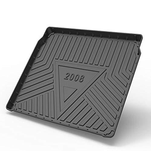 Tapis De Coffre De Voiture,pour Peugeot 2008 2020,Black Rubber Boot Liner Floor Tray Protector Mat Imperméable à l