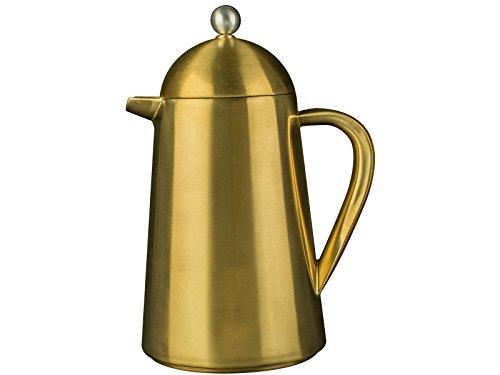 La Cafetière Thermique isotherme avec 8 tasses.Cafetière Française. Machine à café., Acier inoxydable, Brushed Gold, 8 tasses