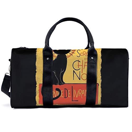 Bolsa de deporte para gimnasio, The Little Witch and The Black Cat Bag Yoga Bag Bolsa de hombro Bolsa de fin de semana Bolsa de viaje Bolsa de viaje para adultos y hombres y mujeres