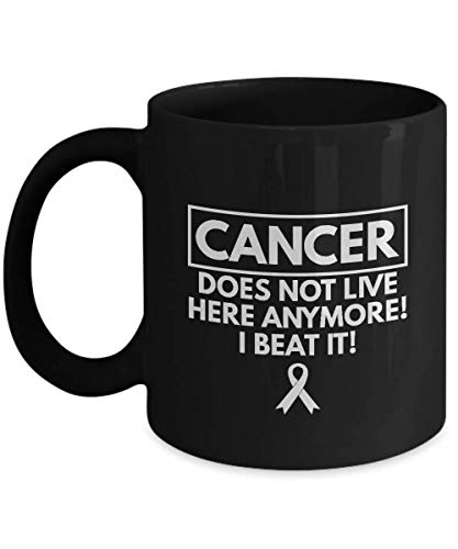 Candid Awe - Gifts for Cancer Survivors:'Cancer, Does Not Live Here Anymore! I Bea It' - Cancer, Cancer Survivor, Beat Cancer, Motivation - 11oz Blac