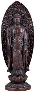 TOKYO ART GALLERY ISHIHARA - Amitabha Tathagata (Amida-nyorai) Japanese Bronze Statue w paulownia wood box - Japan Imported [Standard ship by EMS (Expedited) : with Tracking & Insurance]