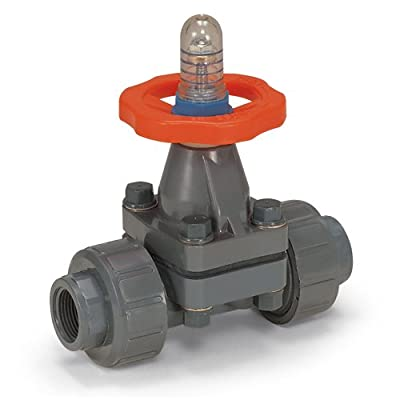 "Hayward DAB1005UEE Series DAB True Union PVC with EPDM Diaphragm Valve, Socket/Threaded End, EPDM Seals, 1/2"" Size by Hayward Industries"