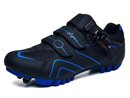 Zapatillas de Ciclismo Carretera Hombre de Calas MTB Specialized Mujer Zapatos de Bicicleta de Montaña Transpirables Exteriores Negro Azul 41