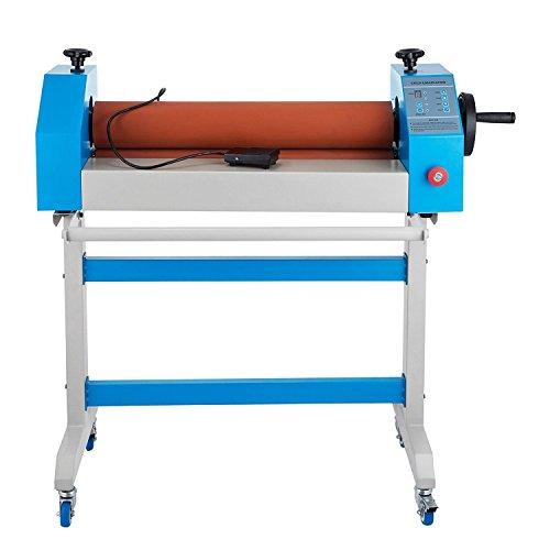 Lalera 650 mm Máquina Laminadora en Frío 26 Pulgadas Plastificadora en Frio Electrica Laminadora Electrica en Frio con Soporte para Carteles Tarjetas con Uso Industrial con 4 Ruedas (650mm)
