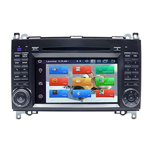 ZLTOOPAI Android 10.0 Autoradio per Mercedes Benz Sprinter B200 Viano Vito W639 W169 W245 W209 Doppia Din Car Stereo GPS Navigazione Car GPS Supporto lettore multimediale Schermo Specchio WiFi