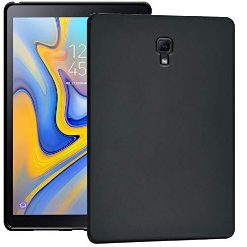 Verco Hülle für Samsung Galaxy Tab A 10.5 (2018), Schutzhülle Tablet Tasche Silikon Cover [T590 / T595], Schwarz