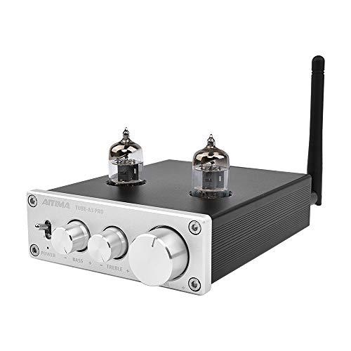 AIYIMA Audio 6J1 Preamplificador de tubo Bluetooth 5.0 HIFI agudos y graves ajuste de audio, preamplificador DC12V preamplificador NE5532P chips para sistema de cine en casa