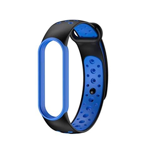 Wristband Replacement Suitable For Xiaomi Mi Band 5 Contrasting Colorful Personality Wristband Dual Color Breathable Strap