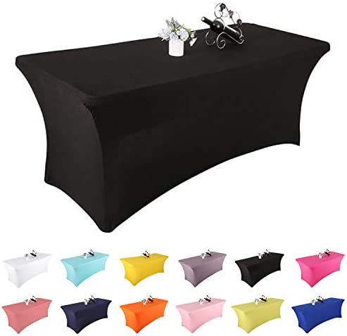 Yetomey Rectangular Fitted Spandex Tablecloths Stretchable Patio Table Covers for Birthday Party product image