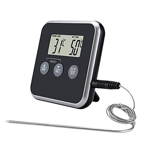Termómetro digital para horno de barbacoa con sonda de acero inoxidable