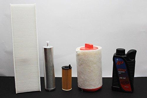 4 filters (lucht- en oliefilter) + 5 liter olie
