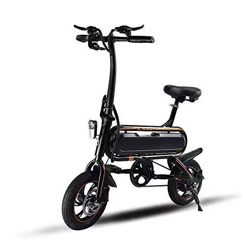 LUO Scooter Eléctrico 350W 12 Pulgadas Bicicleta Eléctrica de Dos Ruedas 48V...