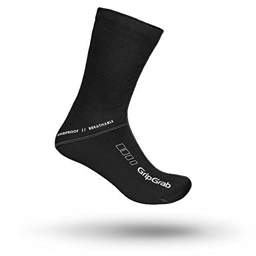 GripGrab Unisex Winddichte Winter-Fahrradsocken l Extra hohe Bike Socken für einen verbesserten Kälteschutz l Verschiedene Größen, Schwarz, L (42-43)