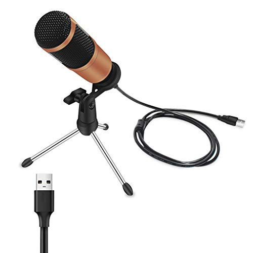 ZNBJJWCP USB Conference Microphone Speaker for Pc USB Microphone Condenser Studio Home Recording Gaming Chatting Device