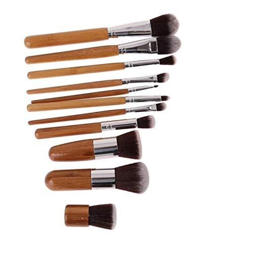 ZALING Femmes Beauté Outil Facial Brosses Fondation Blush Multifonction Sourcils Fard À Paupières Bambou Poignée Lèvre Kit Cosmétique Lèvres