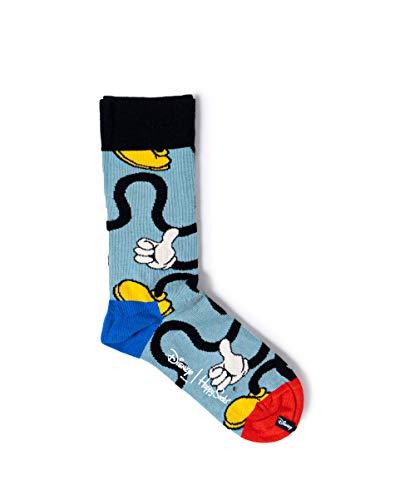 Happy Socks Unisex Disney Mickey Stretch Socks, Light blue, 42