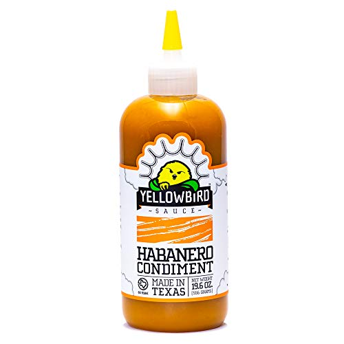 Habanero Hot Sauce by Yellowbird | Plant-Based, Gluten Free, Non-GMO | Homegrown in Austin | 19.6 oz