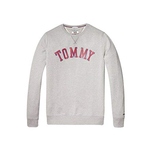 Sudadera con texto 'Tommy,XS,gris