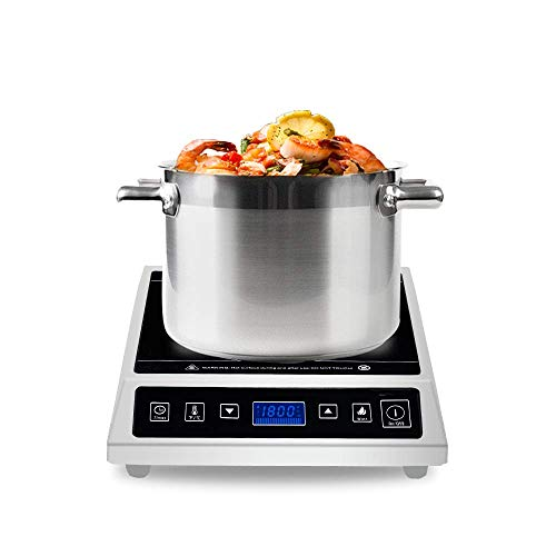 Commercial induction Cooktop, Warmfod Electric Countertop Burner 1800W(120v) LCD Screen, with...