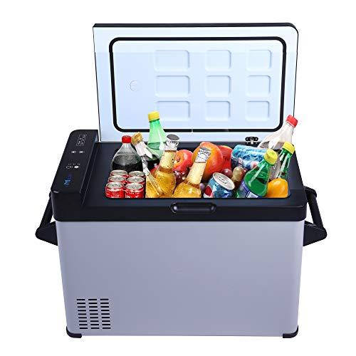 Koreyosh 52 Quart Portable Refrigerator/Freezer,12V/24V DC RV Refrigerator Car Fridge -7.6℉~68℉ Electric Car Cooler for Truck,Boat,Travel and Camping