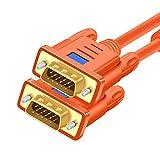 Vga ケーブル HDMI VGA 変換 2m VGAモニターケーブル-ラップトップ、PC、プロジェクター、HDTV、ディスプレイなどのVGA対応デバイス(2m)-オレンジ用のVGA 15ピンケーブル1080PフルHD 5m アダプタケーブル (サイズ : 15m)