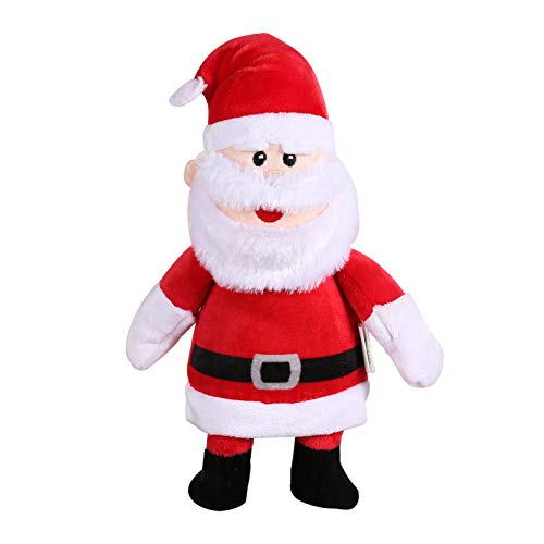 Rudolph Santa Claus 9 Inch Plush Figure Dog Toy from The Red-Nosed Reindeer | Classic Santa Costume Soft Plush Toy for Dogs | Fabric Plush Dog Toy for All Dogs