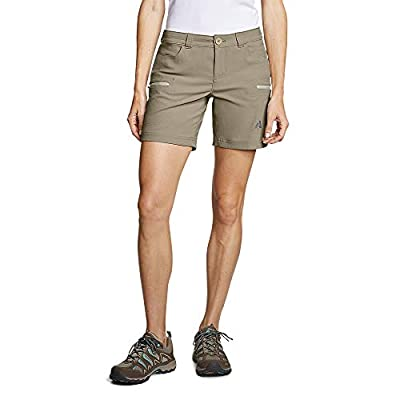 Eddie Bauer Women's Guide Pro Shorts, Lt Khaki Regular 2