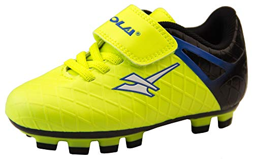 Gola Activo5, scarpe da calcio con tacchetti per erba sintetica, modello ragazzo/ragazza, Giallo