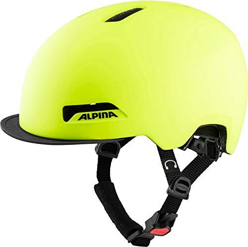 Alpina Unisex– Erwachsene Brooklyn Fahrradhelm, be Visible matt, 57-61 cm