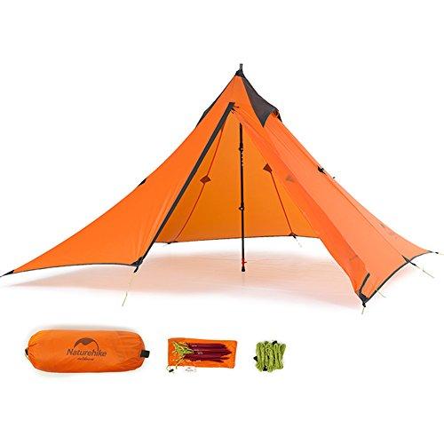 Tentock NatureHike Tente pyramidale d'extérieur 3 saisons, ultralégère et pour 1 personne Idéal pour le camping, la randonnée et l'escalade, the tent fly