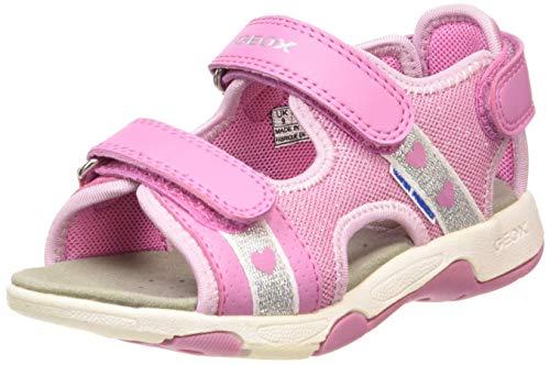 Geox Baby Mädchen Multy Girl B Sandalen, Pink (Dk Pink C8006), 20 EU